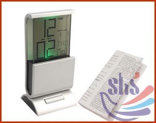 Colorful LCD Digital Display Desk Calendar Alarm Clock