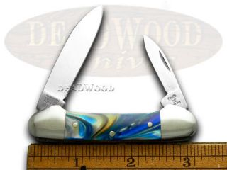 Hen Rooster and Midnight Gold Butterbean Pocket Knife