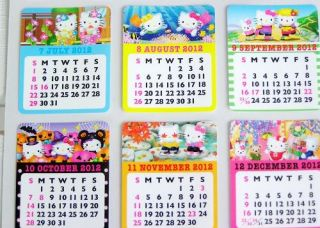 2012 Hello Kitty Calendar Stickers Sanrio H6001