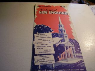 Greyhound Bus Tours 1957 Colonial New England