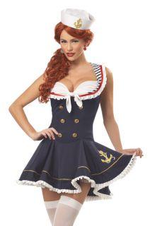 Retro Sexy Sailor Pin Up Girl Navy Halloween Costume