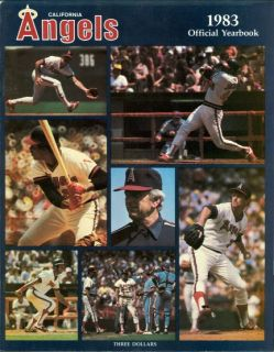 1983 California Angels Yearbook Rod Carew Reggie Jackson Gene Autry