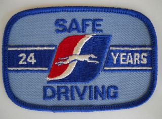 Vintage Greyhound Bus Driver Patch Cap Uniform Shirt 24 Years Safe