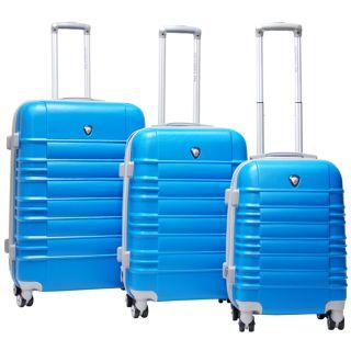 CalPak Vienna 3 Piece Expandable Hardside Spinner Luggage Set Blue