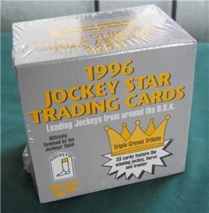 1996 Horse Racing Jockeys Guild Star Trading Cards 220 Complete Set