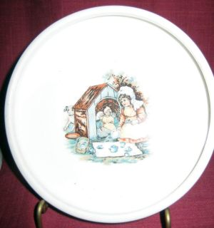 Vintage T. R.C.O Co. Semi Vit Alphabet Child Baby Bowl Girl Playing w
