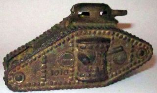 vintage 1920s A.C.Williams TANK BANK USA 1918 Cast IRON Bank