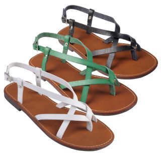 Journee Collection Womens Butter 21 Strappy Flat Sandals