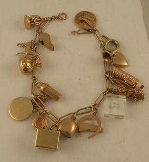 Vintage Tiffany Co Charms 14k Yellow Gold Charm Bracelet
