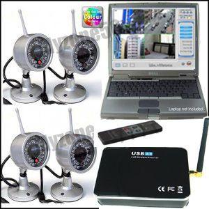 Wireless 4 Video Camera Home CCTV Security System DVR