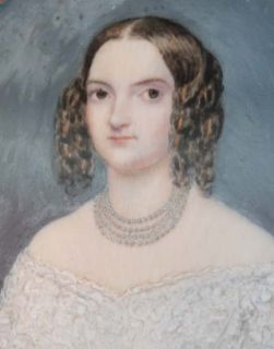 Miniature Watercolour Noble Lady Young Beauty C 1820