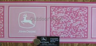 John Deere Pink Floral Camo Wall Paper Border. Licensed. New. 4