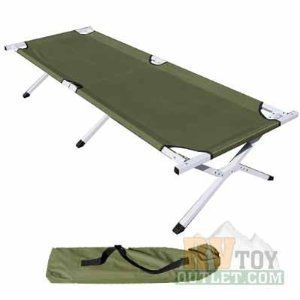 Folding Cot Military Bed Camping Camp Cots Heavy Duty Aluminum Army