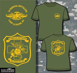 Marine Corps 2D Medical BN Corpsman Doc Camp Lejeune T Shirt