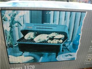 sunbeam electric table top grill camping grill nib usa