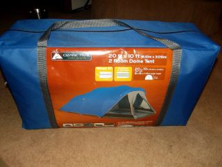 Ozark Trail Family Camping Dome Tent 20x10 SLEEPS 10 Person NEW NEVER