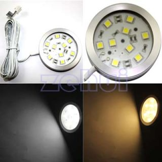 Warm Cool White 12V 9 SMD 6W LED Panel Cabinet Light Bulb Lamp