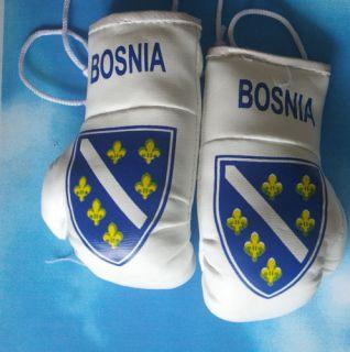 Old Bosnia Mini Boxing Glove Flag