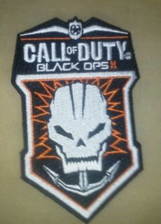CALL OF DUTY BLACK OPS 2 Game Launch Embroidered Iron On Patch PS3, PC
