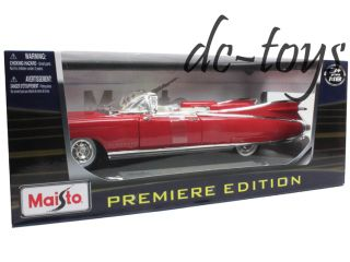 Maisto 1959 Cadillac Eldorado Biarritz 1 18 Diecast Red