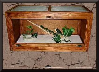 Wood Reptile Cage Bearded Dragons Snakes 36x18x18