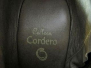 Calleen Cordero Anthropologie Brown Leather Embellished Ankle Wedge