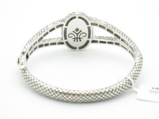 Andrea Candela 18k & Sterling Silver Black & White Diamond Oval Bangle