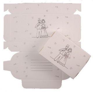Wedding Cake Boxes Silver Bride Groom Design 8172