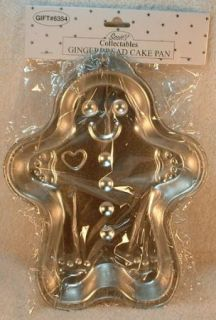 Cute 9 Gingerbread Man Cake Pan Jello Brownies