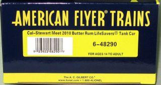 American Flyer/LTI 2010 Cal Stewart Butter Rum Tank Car #48290