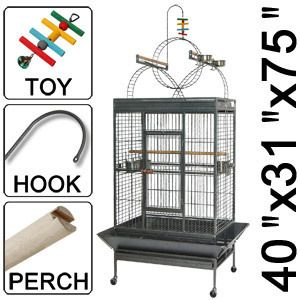 x31 x75 Parrot Bird Cage Ladders Play Top Perch Finch Cages Black Vein