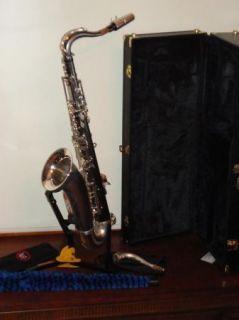 Cannonball Silver Spur Tenor Saxophone Sax Mint Ready