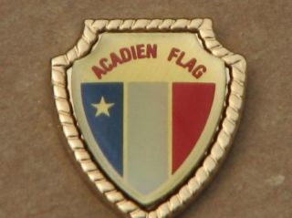 acadien flag metal lapel pin new brunswick canada souvenir description