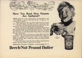 Butter Boy 1917 Antique Food Ad Jar Packaging Canajoharie NY