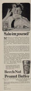 1925 Ad Beechnut Beech Nut Peanut Butter Sandwich Boy Original