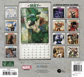 Marvel Comics Comic Art 16 Month 2013 Wall Calendar New SEALED