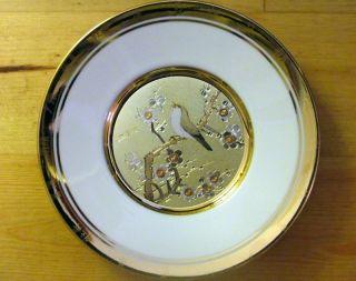 Hamilton Japanese Floral Calendar Collector Plates Set