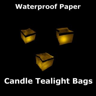 Garden Outdoor Paper Candle Tea Light Lantern Set of 4