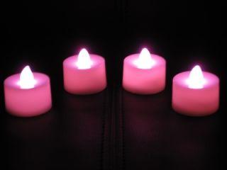 Pink LED Tea Light Flameless Natural Battery Candles