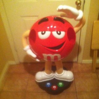 Rare 3ft Red M&M Candy Character Store Display Very Collectible On