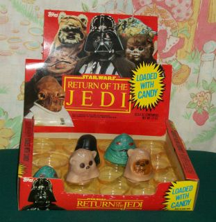 Star Wars Topps RETURN OF THE JEDI CANDY STORE DISPLAY BOX containers