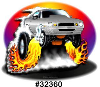78 79 80 81 Camaro BBC SBC Drag Muscle Cartoon T Shirt