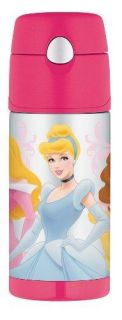 New Thermos Funtainer Bottle Disney Princess 12 Ounce