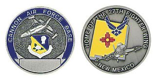 Cannon Air Force Base AFB 27th FW Challenge Coin