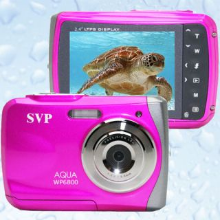SVP 18MP Max. UnderWater Digital Camera + Camcorder *WaterProof * PINK