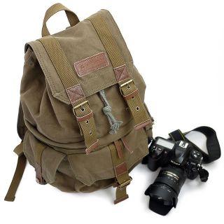 Casual Bag DSLR SLR Camera Canvas Knapsack Outdoor Backpack for Nikon