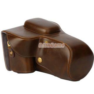 pro leather case bag for canon eos digital rebel t3 t2i t1i 18 55mm