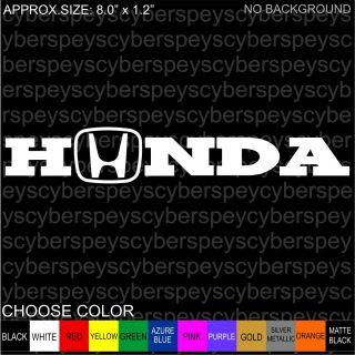 Honda Logo Stickers Car Vinyl Decals JDM