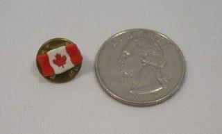 Vintage Canadian Canada Flag Maple Leaf Lapel Hat Pin Pinback