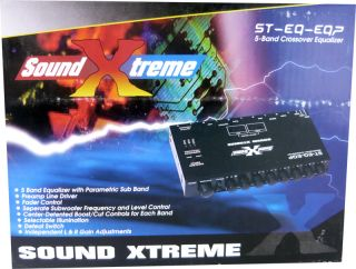 Band Soundxtream Car Equalizer Crossover Sub Control Aux Input